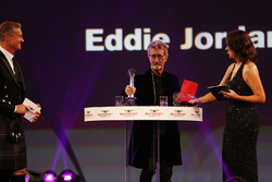 Eddie Jordan on stage to present the National Driver of the Year Award