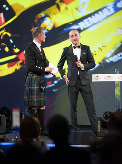 Robert Kubica on stage with Presenter David Coulthard