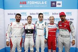 Jose Maria Lopez, Dragon Racing, Sam Bird, DS Virgin Racing, Sébastien Buemi, Renault e.Dams, Felix Rosenqvist, Mahindra Racing, Lucas di Grassi, Audi Sport ABT Schaeffler