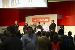 I campioni BTCC Matt Neal, Andrew Jordan, Gordon Shedden, Colin Turkington we Ashley Sutton parlano con Henry Hope-Frost sull'Autosport Stage