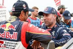 Стефан Петерансель, Peugeot Sport, и Нассер Аль-Аттия, Toyota Gazoo Racing SA