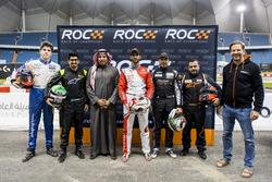 Karl Massad, Ahmed Bin Khanen, Principe Khaled Al Faisal, Presidente della Federazione Motoristica dell'Arabia Saudita, Khaled Al Qassimi, Khaled Al Qubaisi, Mansour Chebli, e Fredrik Johnsson della ROC