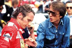 Niki Lauda, Ferrari, mit Luca di Montezemolo, Ferrari-Teammanager