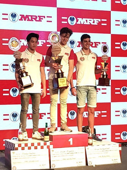 Juara umum MRF Challenge 2017-18 ,Felipe Drugovich; Vice-champion, Presley Martono; Peringkat ketiga, Rinus van Kalmthout