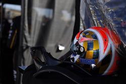 Le casque de James Hinchcliffe, Schmidt Peterson Motorsports Honda