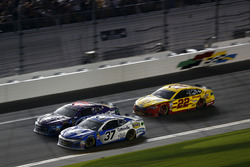 Chris Buescher, JTG Daugherty Racing Chevrolet Camaro, Darrell Wallace Jr., Richard Petty Motorsports Chevrolet Camaro, Joey Logano, Team Penske Ford Fusion