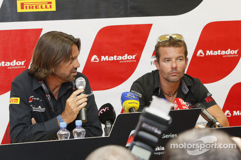Press conference for Sébastien Loeb