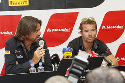 Press conference for Sébastien Loeb