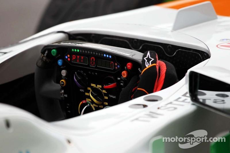Sahara Force India F1 VJM06 steering wheel