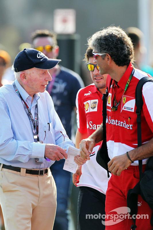 John Surtees, com Fernando Alonso, Ferrari e Edoardo Bendinelli, Personal Trainer