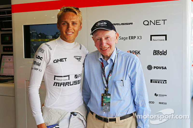 Max Chilton, Marussia F1 Team, with John Surtees
