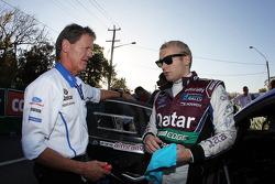 Evgeny Novikov and Malcolm Wilson, Team Principal, Ford World Rally Team