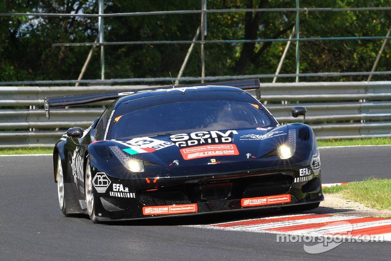 #83 EasyRace Ferrari F458 Italia GT3 Tommaso Rocca, Diego Romanini, Fabio Mancini