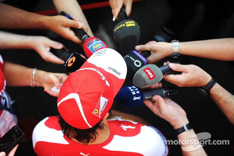 Felipe Massa, Ferrari with the media