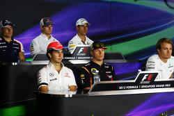 Conferencia de la FIA, Williams; Nico Hulkenberg, Sauber; Adrian Sutil, Sahara Force India F1; Sergio Perez, McLaren; Kimi Raikkonen, Lotus F1 Team; Nico Rosberg, Mercedes AMG F1.  19.09.2013. Formula 1 World Championship, Rd 13, Singapore Grand Prix,