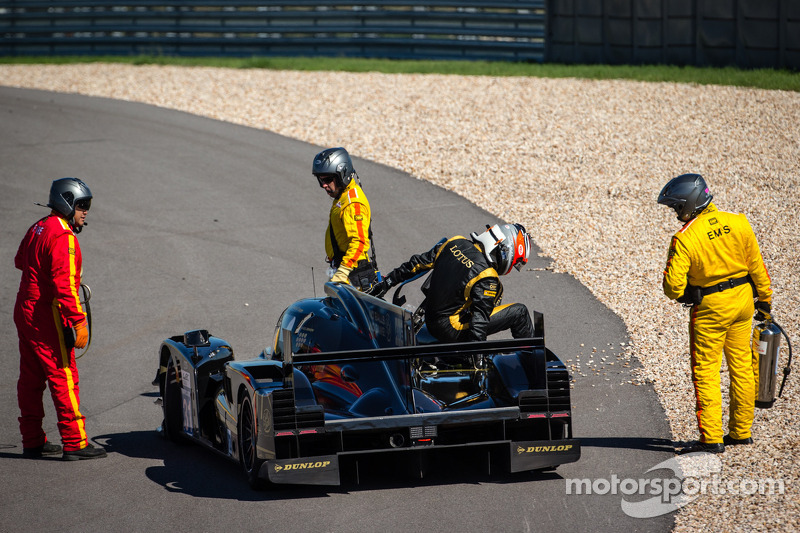 James Rossiter gets out of his damaged car