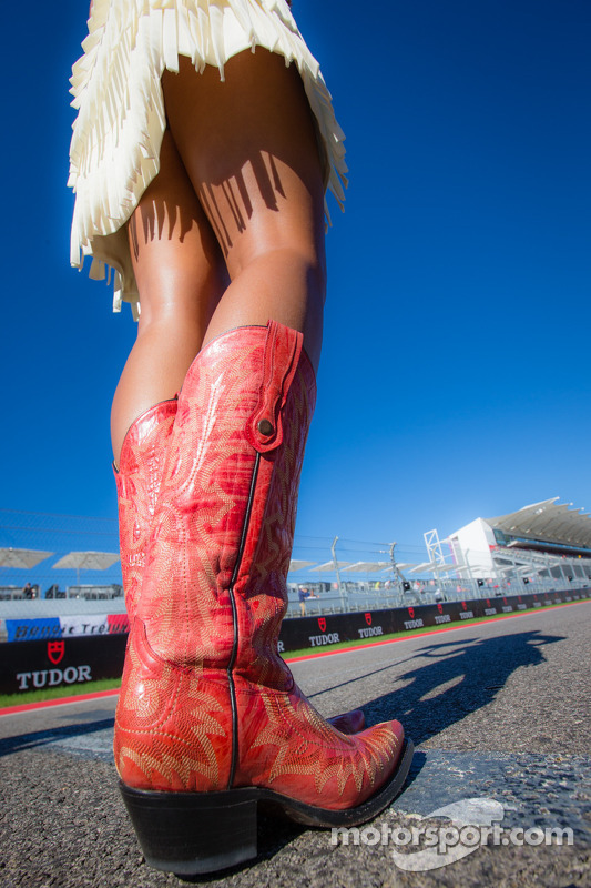 Cowboy boots for grid girls at Austin