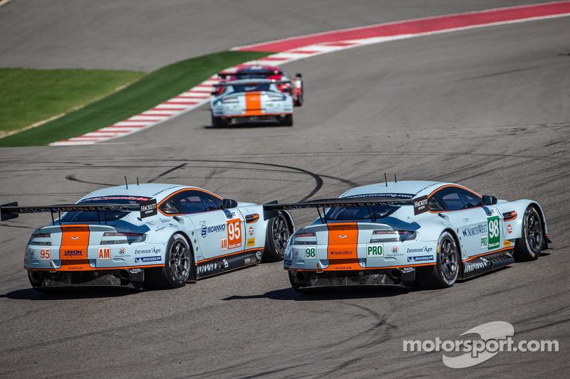 #98 Aston Martin Racing Aston Martin Vantage V8: Paul Dalla Lana, Pedro Lamy, Richie Stanaway, #95 A