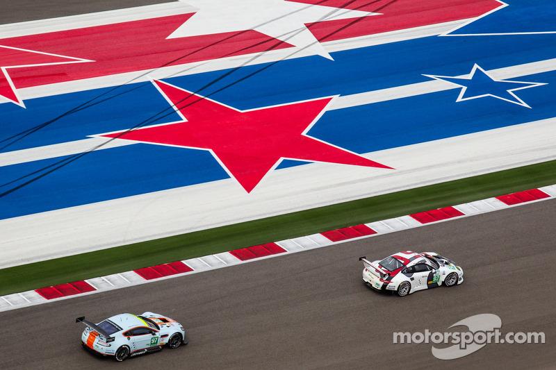 #92 Porsche AG Team Manthey Porsche 911 RSR : Marc Lieb, Richard Lietz, #97 Aston Martin Racing Asto