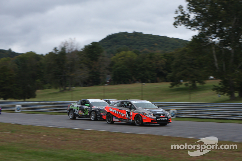 #76 Compass360 Racing Honda Civic SI: Adam Burrows, Ray Mason