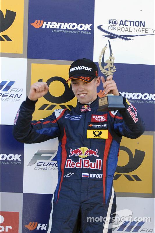 O vencedor Daniil Kvyat