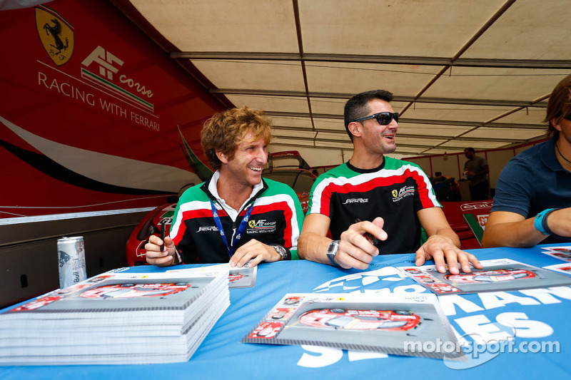 AF Corse drivers at the autograph session