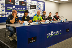 Press conference for the North American WEC drivers: Paul Dalla Lana, Kevin Weeda, Tracy Krohn, Ricardo Gonzalez, Rudy Junco and Chris Dyson