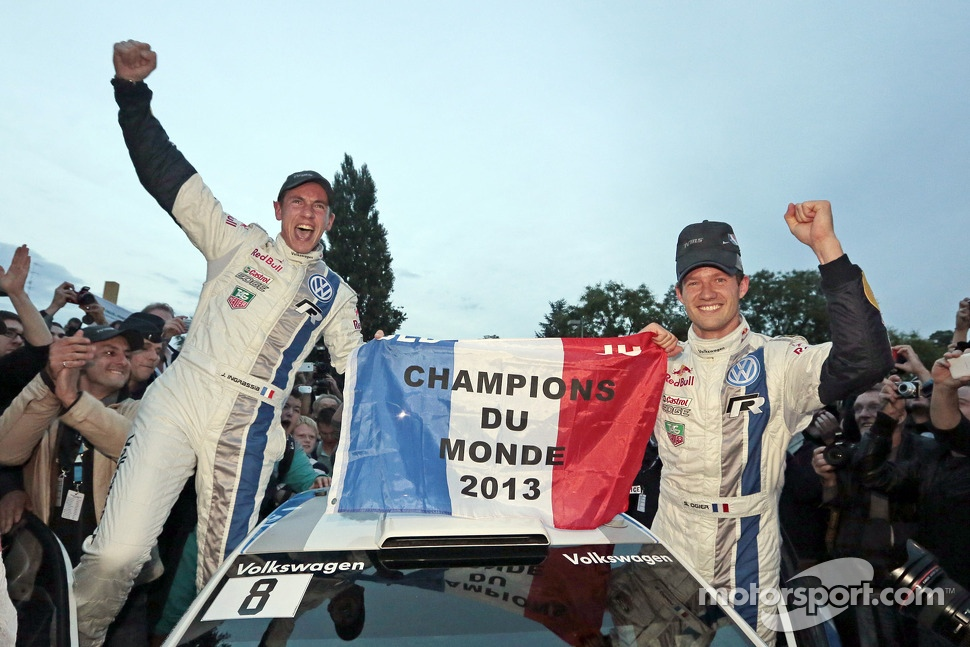 2013 champions Sébastien Ogier and Julien Ingrassia, Volkswagen Polo WRC, Volkswagen Motorsport