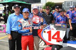 Polesitter Takuma Sato, A.J. Foyt Enterprises Honda