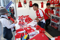 Ferrari merchandise stand