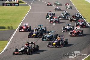 Start of Japanese Grand Prix