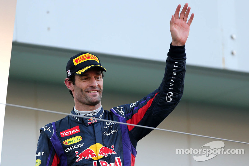 Podio: Mark Webber, Red Bull Racing, en segundo lugar
