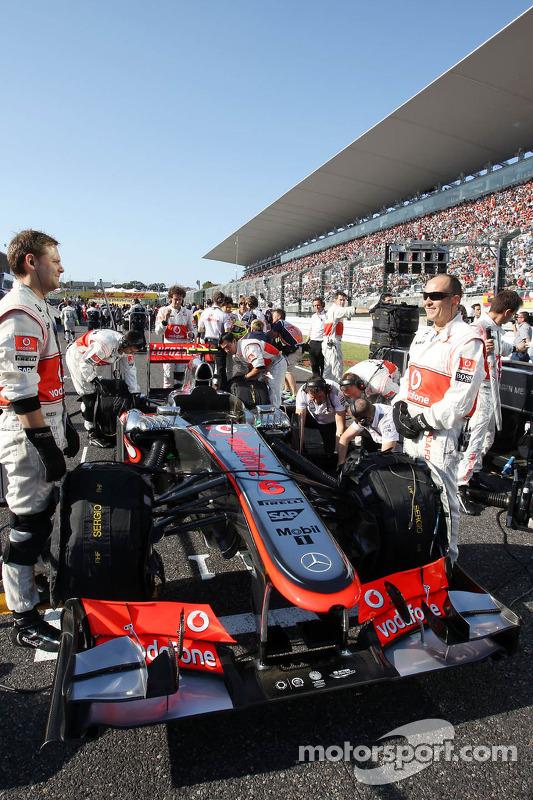 McLaren MP4-28 van Sergio Perez, McLaren op de grid