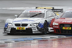 Dirk Werner, BMW Team Schnitzer BMW M3 DTM, battle against Miguel Molina, Audi Sport Team Phoenix Audi RS 5 DTM