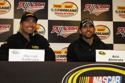 Marcos Ambrose and Aric Almirola