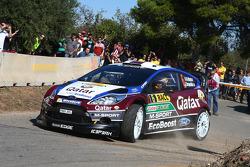 Nasser Al-Attiyah et Giovanni Bernacchini, Ford Fiesta RS WRC