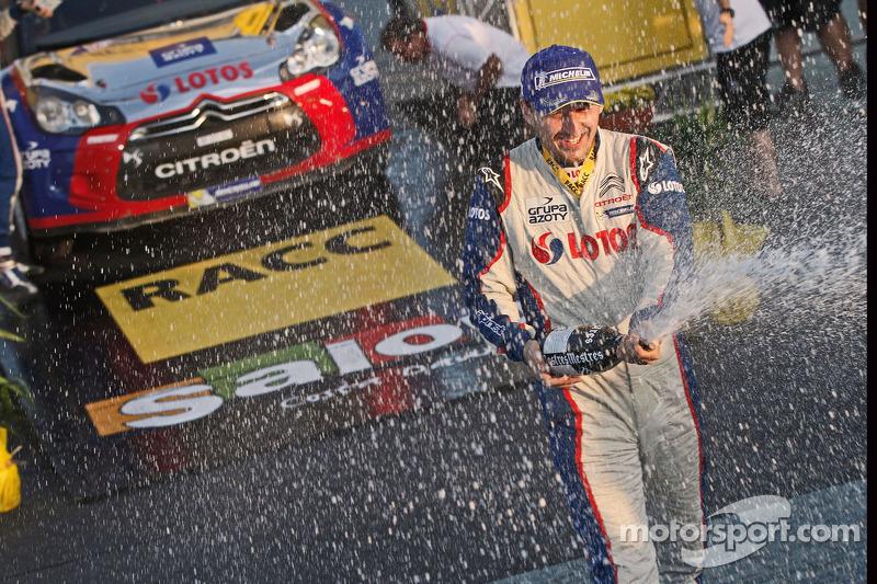 Podio: WRC2 campeones Robert Kubica y Maciek Baran, Citroën DS3 WRC