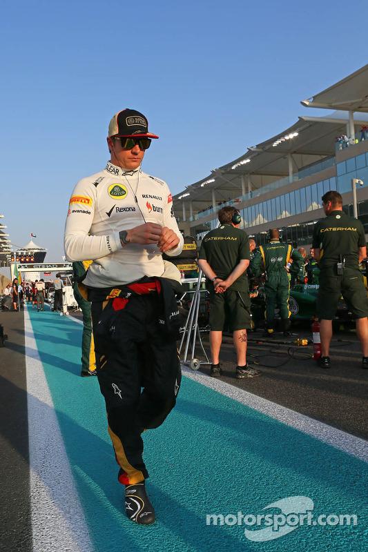 Kimi Raikkonen, Lotus F1 Team no grid