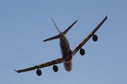 Etihad plane flyover