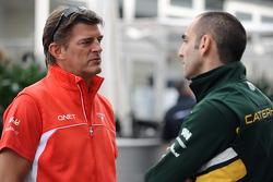 Graeme Lowdon, Marussia F1 Team and Cyril Abiteboul, Caterham F1