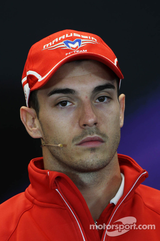 Jules Bianchi, Marussia F1 Team na Coletiva de Imprensa da FIA