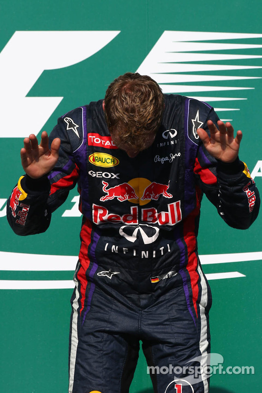 primeiro colocado: Sebastian Vettel, Red Bull Racing