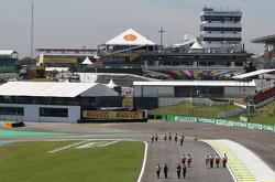 Track walk, Sahara Force India Formula One Team e Williams F1 Team