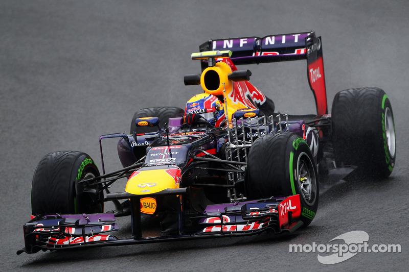 Mark Webber, Red Bull Racing RB9 running sensor equipment