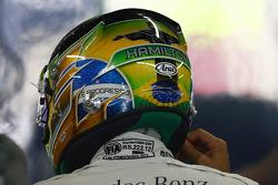 O capacete de Lewis Hamilton, Mercedes AMG F1