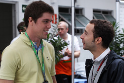 (L to R): Luiz Razia, with Nicolas Todt, Driver Manager