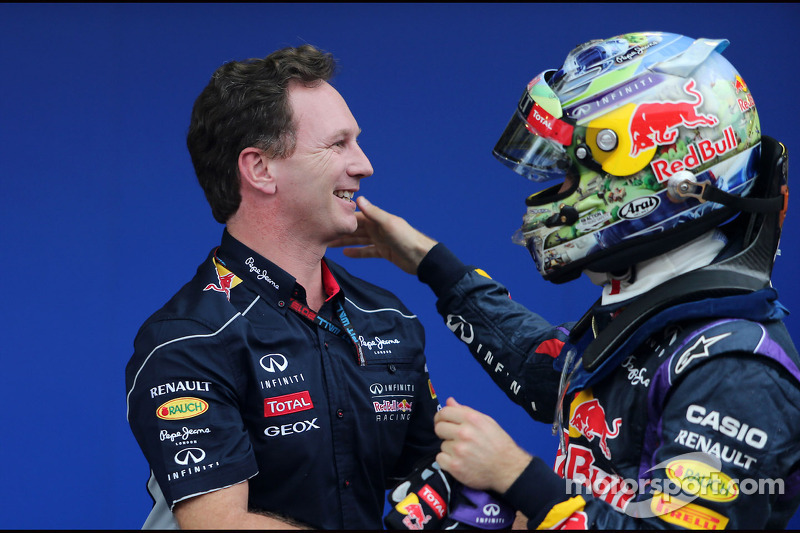 Christian Horner, Red Bull Racing, Sporting Director en Sebastian Vettel, Red Bull Racing