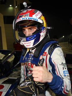 Race winner Sebastien Buemi celebrates