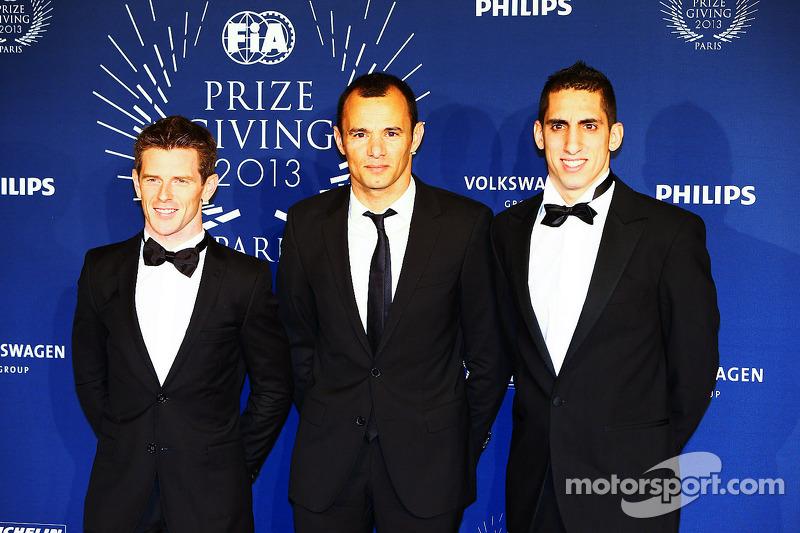 (L naar R): Anthony Davidson, Stéphane Sarrazin, Sebastien Buemi, Toyota Racing