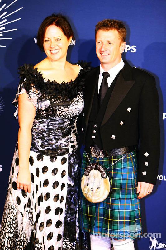 Allan McNish, com sua esposa Kelly McNish
